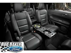 Black 11 18 Explorer Oem Genuine Ford 2nd Row Storage Console Charcoal Pebble