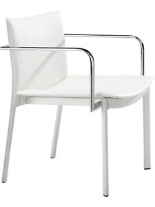 2 Pack modern Contemporary Guest Chair In White Leatherette Office Side Chair