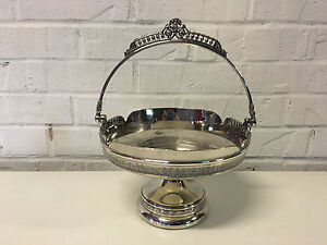 Antique Victorian Pelton Bros Co St Louis Quadruple Silver Plated Brides Basket