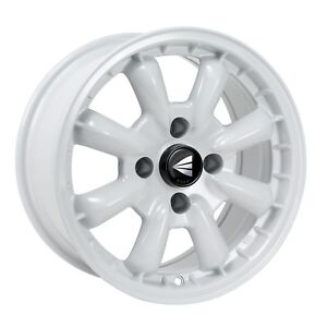 4 Enkei Compe Wheels 16x8 4x100 25 White Rims
