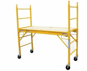 Pro series 6 Ft Multi use Drywall Baker Scaffolding Rolling Capacity Scaffold