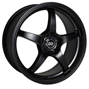 4 Enkei Vr5 Wheels Rims 17x8 5x100 45mm Matte Black