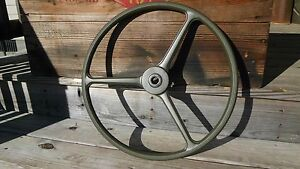 Steering Wheel 17 Solid Green Correct Fits M38 M38a1 M170 Mb Gpw Willys Jeep