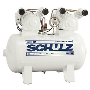 2 Hp Single Phase 30 Gallon 12 Cfm Oil Free Schulz Air Compressor