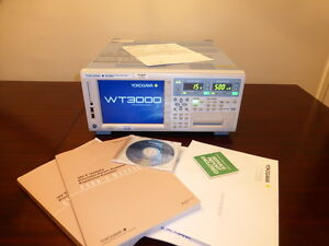 Yokogawa Wt3000 Precision Power Analyzer W 2 1000v 30a Modules Calibrated