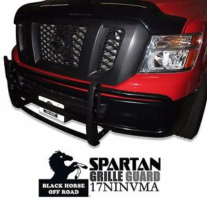Black Horse Black Grille Brush Guard Bumper Protecto Fit 12 19 Nv 1500 2500 3500