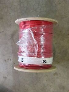 Republic Wire 1000 Cable Spool Red 8 Awg Stranded Type Mtw Or Thhn New