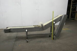 Custom Made Stainless Steel 8 Wide Incline Belt Chip parts Conveyor Wo drive