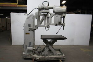 The Foot burt Co Radial Arm Drill 440v 3 Speed With Heavy Duty Lift Table