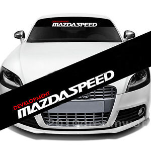 Front Windshield Banner Decal Vinyl Car Stickers For Mazda Car Styling