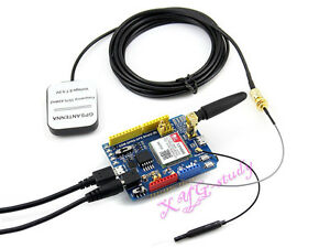Quad band Gsm gprs gps Arduino Shield Based On Sim808 Cp2102 Bluetooth Module