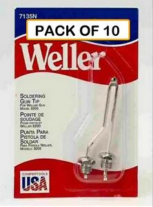 pack Of 10 Weller Original Soldering Tip 7135n With Nut For 8200 Soldering Gun