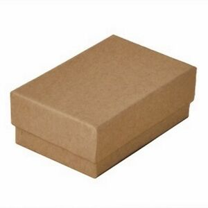Wholesale Lot 200 Kraft Brown Cotton Filled Jewelry Packaging Gift Boxes 2 5 8