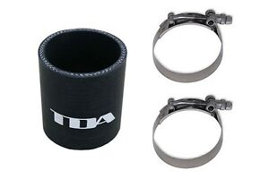 Tda Straight Coupler Black Silicone T Bolt Clamps Universal 3 0