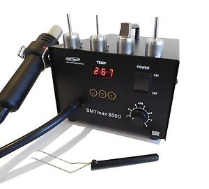 Smtmax 850d Hot Air Rework Station W 4 Nozzles Included