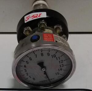 Ashcroft 0 15psi Pressure Gauge And Regulator C1215