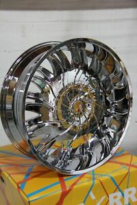 26 Inch Chrome U2 55 Rims Wheels 20 24 28 30