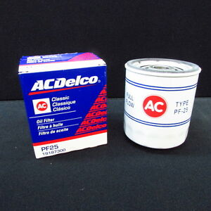Acdelco Pf25 Classic Style Oil Filter W Ac Logo Gm 19187300