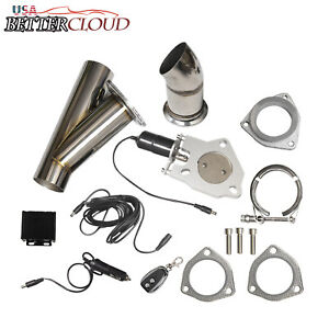 3 76mm Remote Electric Exhaust Catback Downpipe Cutout Valve System