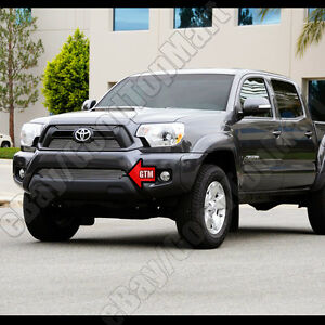 For 2012 2013 2014 2015 Toyota Tacoma 1pc Bumper Polished Billet Grille Bolton