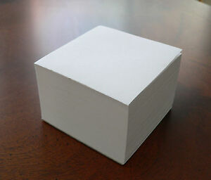 Blank Note Paper Cubes total Of 50 3 1 2 X 3 1 2 Glued 1 Side