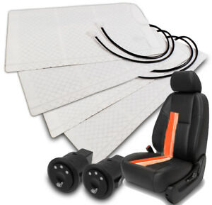 2x Universal Heater Pad Heated Seat Kit round Hi mid low Switch Freestyle