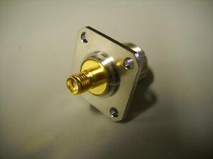 N Female To Sma Female Flanged Rf Panel Mount Adapter Connector Excellent