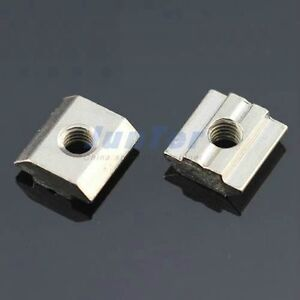 M8 T Sliding Nut Block Slot 8 For 30 Series Zinc Plated Carbon Steel