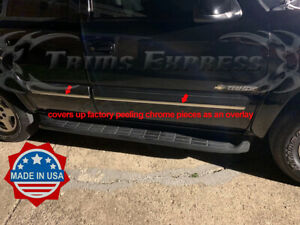 2000 2006 Chevy Tahoe Chrome Body Side Molding Add On Accent Overlay Trim