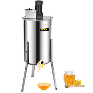 3 6 Frame Electric Honey Extractor Stainless Steel Beehive Drum Bee Equipment
