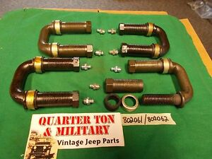 U Shackle Kit Spring Hangers Fits Willys Jeep Mb Gpw Cj2a Cj3a M38