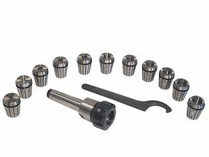 Mt4 Shank Er32 Chuck With 11 Pc Collets Set