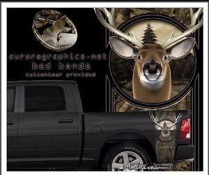 Deer Buck Camouflage Truck Bed Band Vinyl Graphic Striping Set