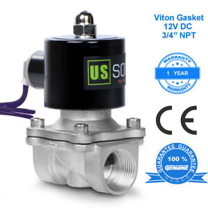 U S Solid 3 4 Stainless Steel Electric Solenoid Valve 12v Dc Normally Closed