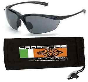 Crossfire Sniper Safety Glasses With Pouch