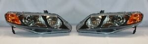 Right And Left Side Replacement Headlight Pair For 2006 2008 Honda Civic Sedan