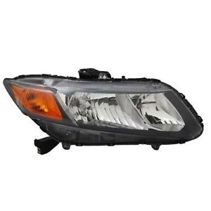 Left Side Replacement Headlight Assembly For 2012 Honda Civic
