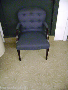 Paoli Blue Office Accent Chairs Set Of 2