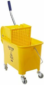 24 Quart Yellow Mop Bucket Wringer