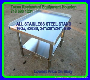 New All Stainless Steel Equipment Stand 24 X 30 X 24 16ga Nsf Houston Texas