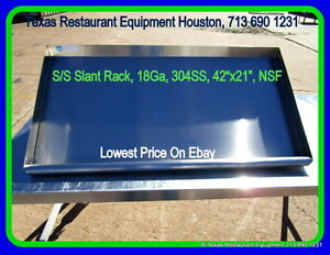 New Stainless Steel Slant Rack 42 X 22 Nsf Houston Texas