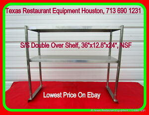 New Stainless Steel Double Over Shelf 36 For Work Table Nsf Houston Texas