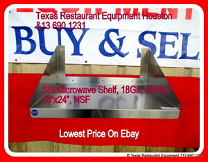 New Stainless Steel Microwave Shelf 18 x24 Nsf Houston Texas