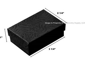 Wholesale 1000 Black Swirl Cotton Fill Jewelry Gift Boxes 3 1 4 X 2 1 4 X 1