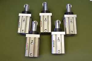 Lot Of 5 Pneumatic Slide Bearing Cylinder 40mm Bore 25mm Stroke Smc Rsdqa40 25dr