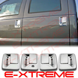 For Chrome 4 Door Handle Cover W o K For 1999 16 Ford Super Duty F250 f350 f450