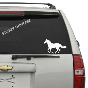 Trotting Horse Car Window Decal Sticker 5 X7 5 Galloping Cowboy Car Window 0137