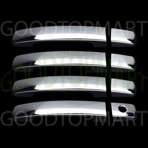 For Nissan Frontier 2005 2018 Chrome 4 Doors Handles Covers W Out Smart Keyhole