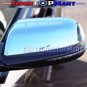 For Ford Edge 2011 2012 2013 2014 Chrome Top Half Mirror Covers Pair Set Mirrors