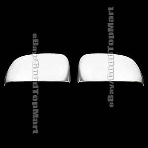 For 2008 2011 2012 2013 14 15 16 17 Dodge Grand Caravan Chrome Top Mirror Covers